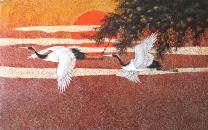 Crane Vietnamese lacquer painting