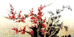 Birds on Cherry and Bamboo
